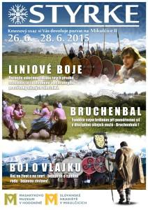 Plakát Styrke na Slovanském hradišti v Mikulčicích