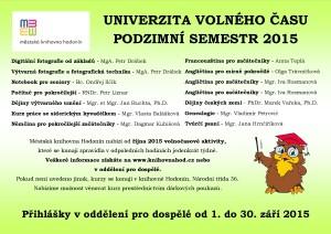 UVČ - PODZIMNÍ SEM 2015