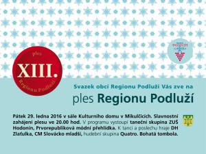 Plakát ples Region Podluží 2016