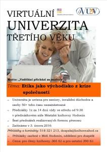 Virtuální univerzita 2016 - jaro - etika